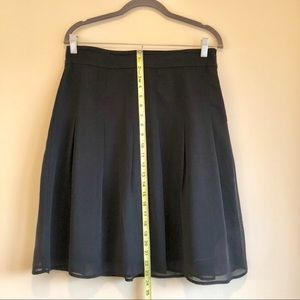 A-line Skirt with sheer overlay